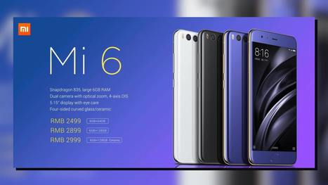 Xiaomi Mi 6 Mobile Phone Ceramic Edition Sale to happen in China today for  CNY 2 69857d9f7