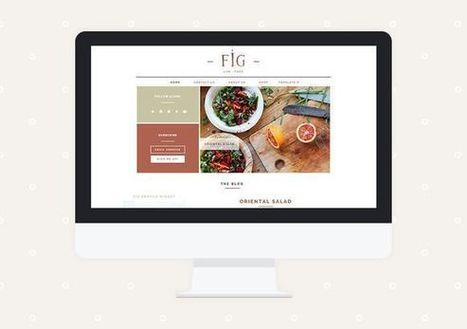 Fig Premade Blogger Template by Miel Café Design on CreativeWork247 -… | Blogger themes | Scoop.it