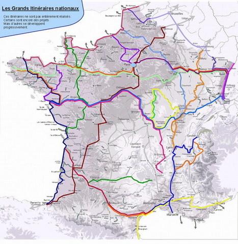 Vélo: Nouvelle carte des Grands Itinéraires nationaux - AF3V | Mon moleskine | Scoop.it