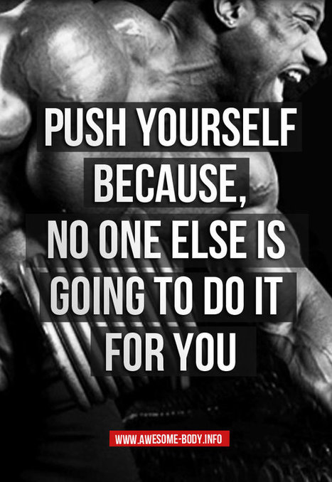 Great Push Yourself | Bodybuilding Motivational Quotes   Awesome Body