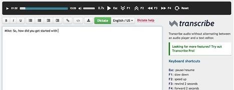 Transcribe. Transcrire des fichiers audio en texte   TICE et Web 2.0   Scoop.it