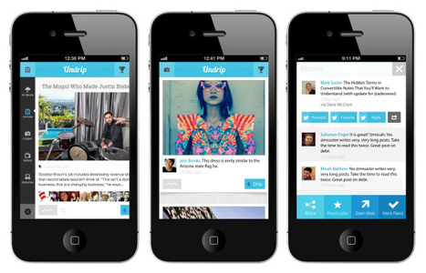 Social News Curation With Undrip [iOS] | Content Marketing & Content Curation Tools For Brands | Scoop.it