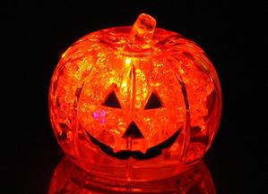 Pumpkin light up ice cube | Halloween | Scoop.it