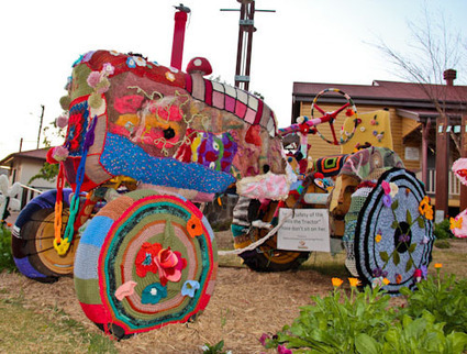 Sparkling Adventures -- Yarn-bombed tractor | Art! | Scoop.it