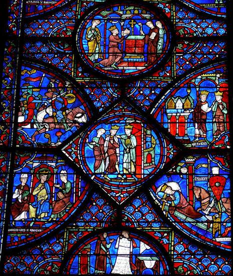 #028 ❘ La Vie de Charlemagne ❘ vitrail de la cathédrale de Chartres ❘ anonyme ❘  1205 à 1240 ❘ | # HISTOIRE DES ARTS - UN JOUR, UNE OEUVRE - 2013 | Scoop.it