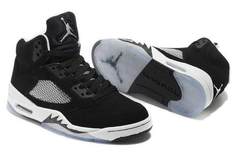 best sneakers 4f025 74aea Nike Air Jordan 5 Mens Black White Shoes -  65.00   adidas and nike shoes  online