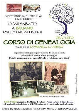 Bojano: un corso di genealogia per scoprire il bisnonno che parti' per l'America | Généal'italie | Scoop.it