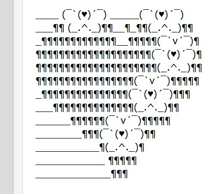 Valentine's Day facebook symbols and ascii art | ASCII Art | Scoop.it