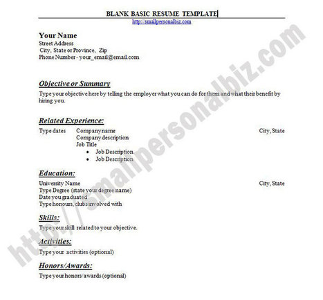 Free Customizable Blank Resume Template In Word