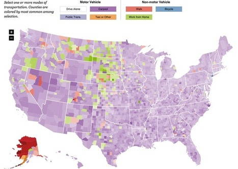 Mapping the Crushing Truth About Your Work Commute | Peer2Politics | Scoop.it