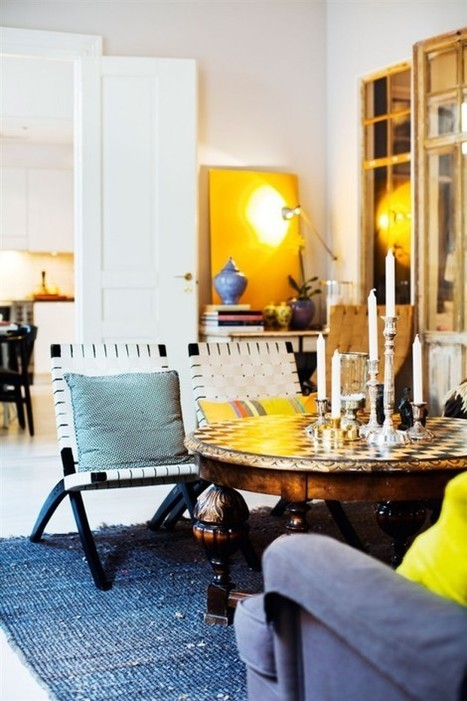 Eclectic Stockholm Apartment In A Mix Of Colors | Design | News, E-learning, Architecture of the future at news.arcilook.com | Architecture news | Scoop.it