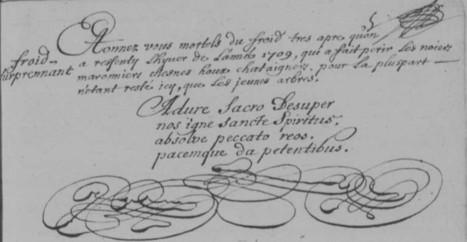 Un curé bien informé mais aussi artiste à La Quinte (Sarthe) de 1690 à 1720 | Chroniques d'antan et d'ailleurs | Scoop.it