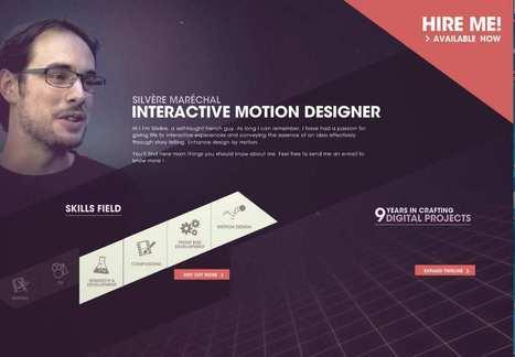 Silvère Maréchal est Interactive Motion Designer. Il vous montre pourquoi vous devriez l'embaucher. #turbodrive - Yes I Will | News from net | Scoop.it