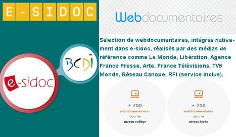 Des webdocumentaires, intégrés nativement dans e-sidoc (collége-Lycée) #esidoc #webdoc | Ressources d'autoformation dans tous les domaines du savoir  : veille AddnB | Scoop.it