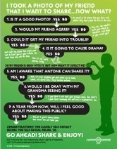 7 Questions To Ask Yourself Before Sharing Photos Online | Facebook and Teachers | Scoop.it