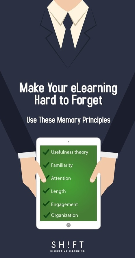 Make It Hard to Forget: 6 Principles to Help Your Learners Remember Anything | Pedagogy & Higher Education | Scoop.it