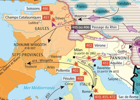 Carte. La chute de Rome - L'Histoire | L'actu culturelle | Scoop.it