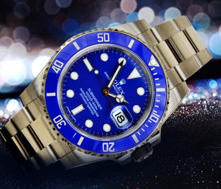 grandes marques renommée mondiale en ligne ici Review Rolex Submariner Blue Dial Watch 116619L...