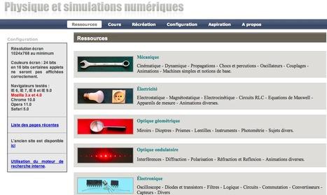 Physique et simulation | Ressources éducatives libres (OCW, OEC et REL) | Scoop.it