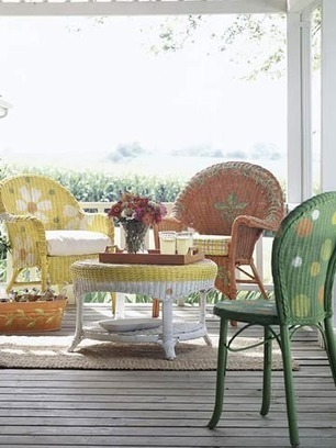 How To Make Over Wicker Furniture