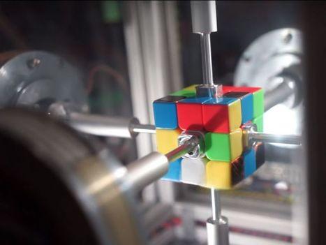 C'est un robot qui enregistre et tire un Rubik's cube ... en 0.38 seconde - Sciencesetavenir.fr |  Ressources pour le College of Technology à Scoop.it