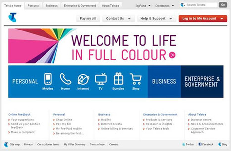 Telstra.com – Just one way to experience life in full colour - Brand, Identity, News, Digital, Social Media | Telstra Exchange | Brand Marketing & Branding | Scoop.it