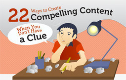 22 Ways to Create Compelling Content When You Don't Have a Clue [Infographic] | Copyblogger | Bloggertips | Scoop.it