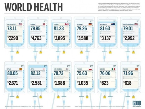 How Much People Pay for Health Care Around the World | Visual.ly | DigiPharma | Scoop.it