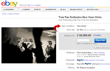 Digital Music News - Good Idea? This Band Is Selling a Private Show on eBay... | Classical Music and Internet | Scoop.it