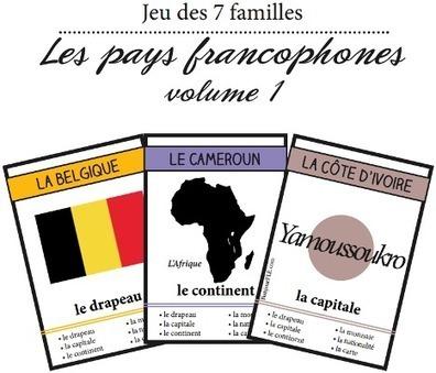 Le jeu des sept familles de la Francophonie | Ressources d'apprentissage gratuites | Scoop.it