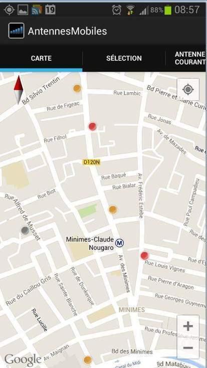 Cartographie des antennes mobiles 4G, 3G et 2G sur Android, Carte Antennes Mobiles | Freewares | Scoop.it