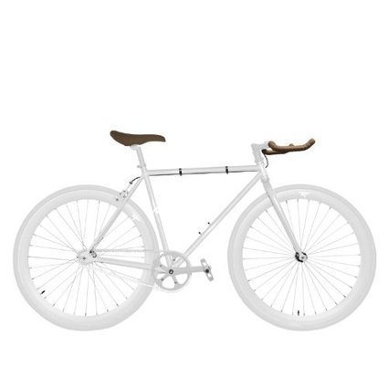 Zycle Fix 48 CM Bike Fixed Gear Pearly White Pursuit Fixie Bicycle 48cm  a86d7e427