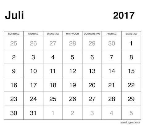Juli 2017 Kalender Mit Feiertagen\' in Printable Calendar   Scoop.it