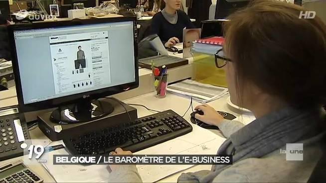 Belgique : Le baromètre de l'e-business - JT 19h30 (243/365) - 01/09/2017