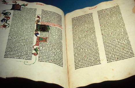 #054 ❘ Premier livre imprimé en Europe : la Bible par Gutenberg ❘ 1455 | # HISTOIRE DES ARTS - UN JOUR, UNE OEUVRE - 2013 | Scoop.it