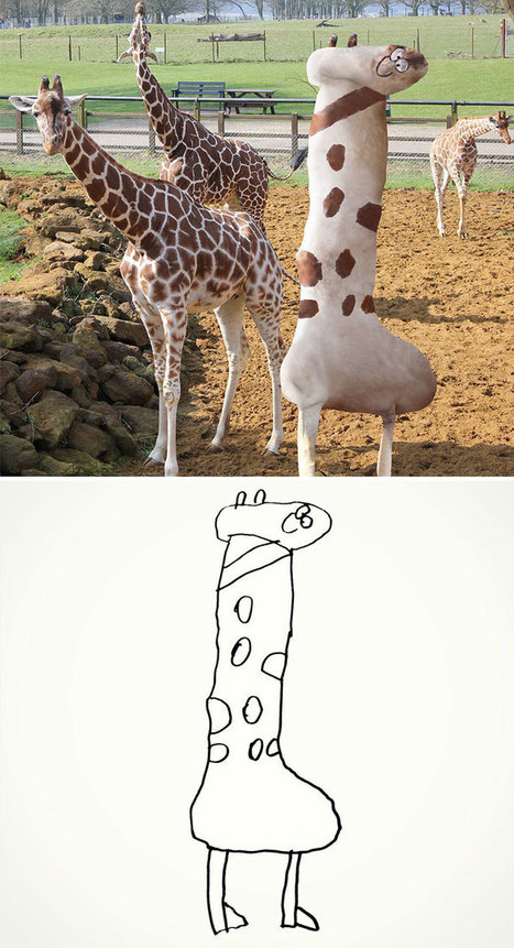 Dad Turns 6-Year-Old Son's Doodles Into Hilariously Creepy Illustrations | The Landscape Café | Scoop.it
