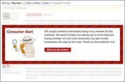 Busted - 285 Consumer Alerts Issued Over Fake Reviews on Yelp - Rudder Marketing | Local  Business Marketing | Scoop.it