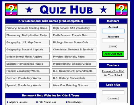 Quiz Hub: K-12 Educational Quiz Games (iPad-Com