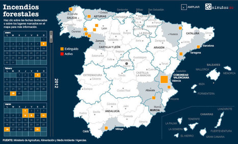 Grandes incendios forestales en España durante 2012 | CEREGeo - Geomática | Scoop.it