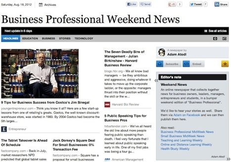 Aug 18 - Business Professional Weekend News | Business Updates | Scoop.it