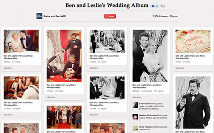 'Parks and Rec' characters Ben and Leslie have a wedding album on Pinterest | EW.com | Pinterest | Scoop.it