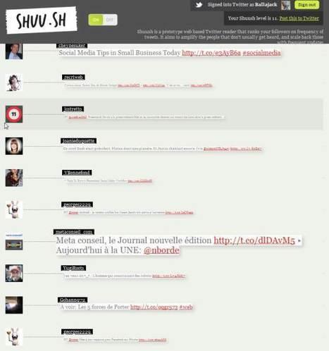 Amplifier les tweets de vos followers les plus discrets sur Twitter, Shuu.SH   Time to Learn   Scoop.it