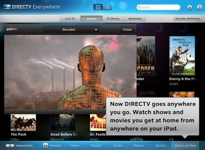 DirecTV iPad app adds (some) TV and movie streaming 'Everywhere' | Social TV is everywhere | Scoop.it