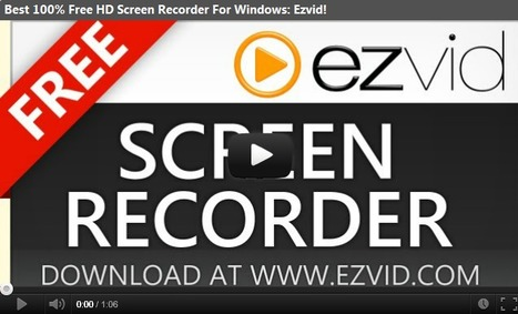 Ezvid - Best Free Screen Recorder and Video Editor | Create, Innovate & Evaluate in Higher Education | Scoop.it