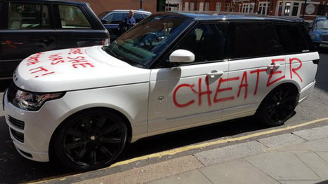 Woman gets revenge on cheating spouse by spray-painting his Range Rover | Cell Phone Spy | Scoop.it