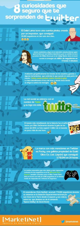 8 curiosidades sobre Twitter que te van a sorprender | SocialMedia | Scoop.it