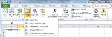 Excel Accelerator, une collection d'outils de productivité pour Excel | Time to Learn | Scoop.it