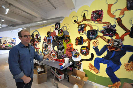 Artist, students collaborate on mural at Mass MoCA's Kidspace: Fourth-graders collaborate on mural about empathy   Empathy in the Arts   Scoop.it