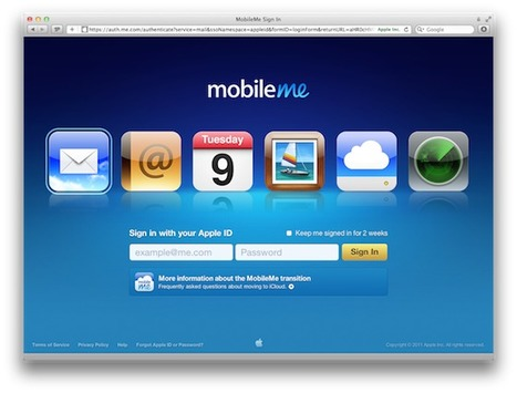 Daily Tip: How to transfer your MobileMe account to iCloud ... | Apple Rocks! | Scoop.it