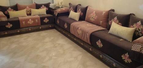 Tissus marocains pour salon moderne confortable...